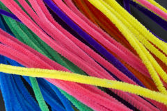 Blue,Green,Purple,Orange,Pink and Yellow pipe cleaners background. This is a photograph of Blue,Green,Purple,Orange,Pink and Yellow pipe cleaners background Stock Photography