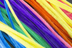 Blue,Green,Purple,Orange,Pink and Yellow pipe cleaners background. This is a photograph of Blue,Green,Purple,Orange,Pink and Yellow pipe cleaners background Royalty Free Stock Images