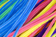 Blue,Green,Purple,Orange,Pink and Yellow pipe cleaners background. This is a photograph of Blue,Green,Purple,Orange,Pink and Yellow pipe cleaners background Royalty Free Stock Image