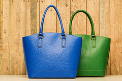 Blue and green purse Stock Photography