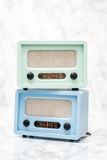 Blue and Green Radios with Retro Look Royalty Free Stock Photo