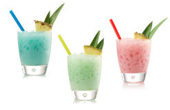Blue, green and red cocktail Royalty Free Stock Photos
