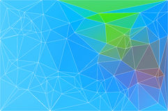Blue green red geometric background with mesh. Royalty Free Stock Images
