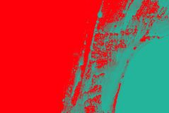 Blue green red paint brush strokes background. Blue, green red paint background texture with grunge brush strokes stock photo