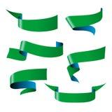 Blue green ribbon patterns Stock Photo