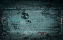 Blue green rustic wooden background Stock Images