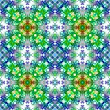 Blue and green seamless abstract pattern Stock Photography
