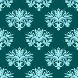 Blue and green seamless floral pattern Royalty Free Stock Photography