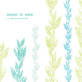 Blue green seaweed vines frame corner pattern Royalty Free Stock Image
