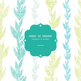 Blue green seaweed vines frame seamless pattern Royalty Free Stock Photos
