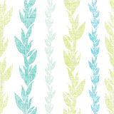 Blue green seaweed vines seamless pattern Royalty Free Stock Photography