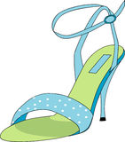 Blue and Green Shoe Royalty Free Stock Images