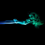 Blue and green smoke Stock Images
