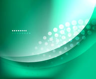Blue-green smooth wave template Stock Photo