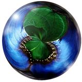 Blue and green sphere glass marble Stock Images