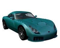 Blue-Green Sports Car Stock Photos