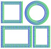 Blue and green square, round, rectangular frame. For decoration. Vector EPS10 Royalty Free Stock Image