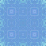 Blue and green squares - seamless square pattern background Royalty Free Stock Photography