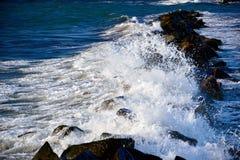Blue green stormy sea Royalty Free Stock Photos