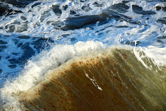Blue green stormy sea Royalty Free Stock Images