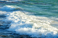 Blue green stormy sea Stock Photography