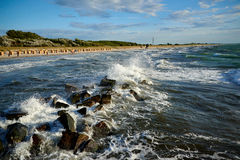 Blue green stormy sea Royalty Free Stock Image