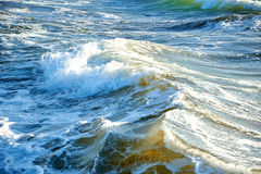 Blue green stormy sea Royalty Free Stock Photography