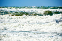 Blue green stormy sea Stock Images