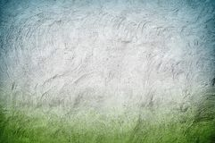 Blue and green stucco wall Royalty Free Stock Photos
