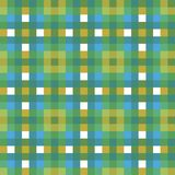 Blue green tartan plaid check fabric texture square pixel seamless vector pattern for fabric, wallpaper, scrapooking. Projects or backgrounds. Surface pattern royalty free illustration
