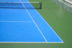 Blue and green tennis court Stock Photography