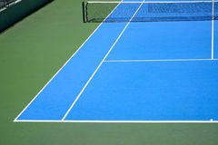 Blue and green tennis court Royalty Free Stock Images