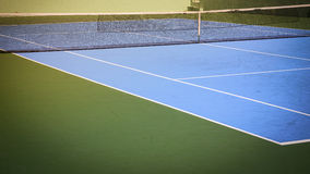 Blue and green tennis court. Sport background Stock Image