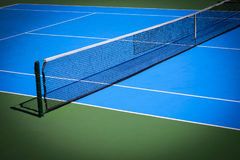 Blue and green tennis court. Sport background Royalty Free Stock Photos