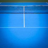 Blue and green tennis court. Sport background Stock Images