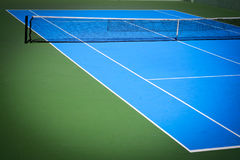 Blue and green tennis court. Sport background Royalty Free Stock Image