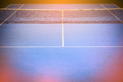 Blue and green tennis court Royalty Free Stock Image