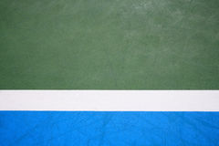 Blue and green tennis court surface Stock Photography