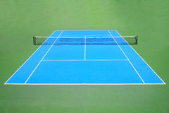 Blue and green tennis court surface Stock Image