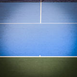 Blue and green tennis court surface Stock Photos