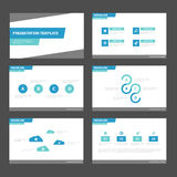 Blue green tone presentation templates Infographic elements flat design set for brochure flyer leaflet marketing Royalty Free Stock Photos