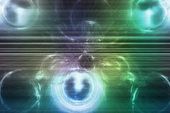 Blue Green Trendy Creative Abstract Wallpaper Royalty Free Stock Image