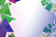 Blue and green triangle overlap  with arc, abstract background Stock Photo