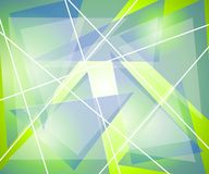 Blue Green Triangles Lines. An abstract background pattern texture featuring blue, green and white gradient stripes, lines, and triangle shapes Royalty Free Stock Photography