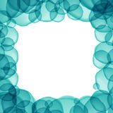 Blue or green turquoise circle overlap color abstract background Stock Images