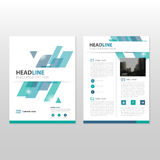 Blue green Vector annual report Leaflet Brochure Flyer template design, book cover layout design, abstract business presentation Royalty Free Stock Image