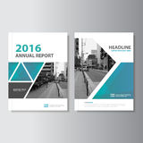 Blue green Vector annual report Magazine Leaflet Brochure Flyer template design, book cover layout design Royalty Free Stock Photo
