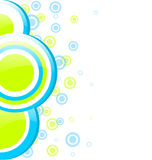 Blue and green circles design Royalty Free Stock Photography