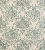 Blue Green Vintage Pattern Wallpaper Swatch Royalty Free Stock Photo