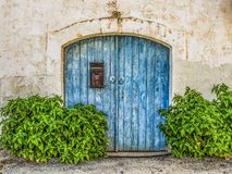 Blue, Green, Wall, Door royalty free stock images